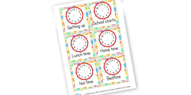 Times Of The Day Cards - Visual Timetables Primary Resources, visual, timetables, routine