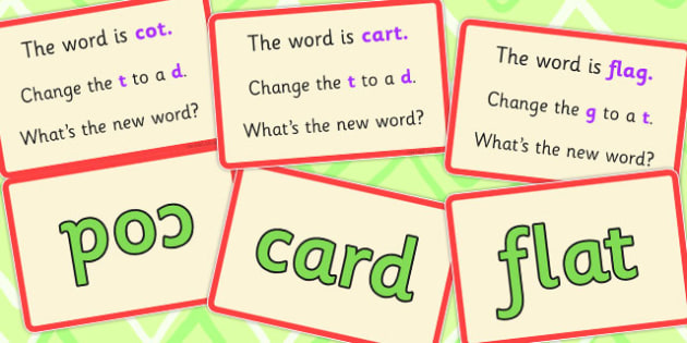 Final Phoneme Manipulation Script Cards Set 2 - phoneme, 2, final