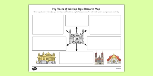 places of worship topic research map research map worship. Black Bedroom Furniture Sets. Home Design Ideas