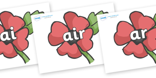 Phase 3 Phonemes on Poppies - Phonemes, phoneme, Phase 3, Phase three, Foundation, Literacy, Letters and Sounds, DfES, display