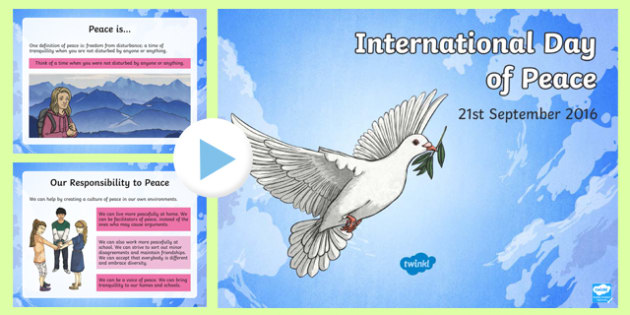 International Day of Peace: 21st  September 2016 PowerPoint-Irish