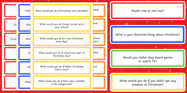 100 Christmas Circle Time Question Cards