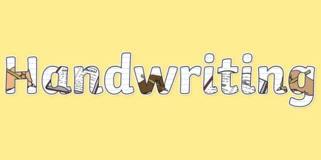 Handwriting Display Lettering - English Lettering, Literacy Lettering, Literacy display lettering, handwriting