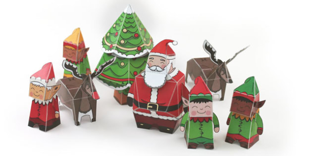 Christmas Paper Model Pack - models, activities, create, activity