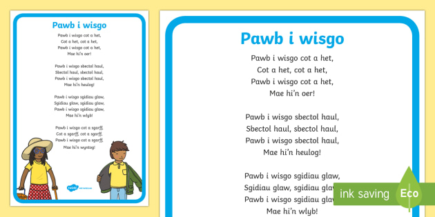 Hwiangerdd 'Pawb i wisgo' - Welsh Second Language Songs and Rhymes,Welsh