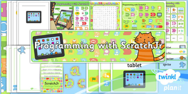 PlanIt - Computing Year 1 - Programming with ScratchJr Unit Additional Resources - code, coding, programming, algorithms