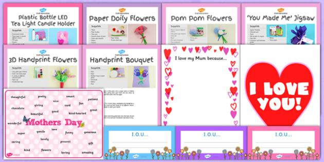 EYFS Mother's Day Craft Activity and Accompanying Planning Pack - activity, pack