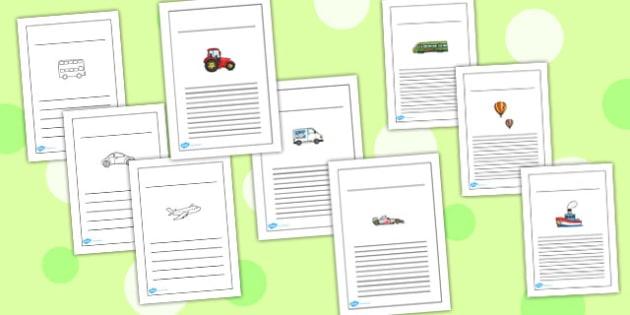 Transport Writing Frames - transport, writing frames, writing
