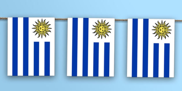 Uruguay Flag Bunting - south america, nation, international, geography, culture, display, olympics