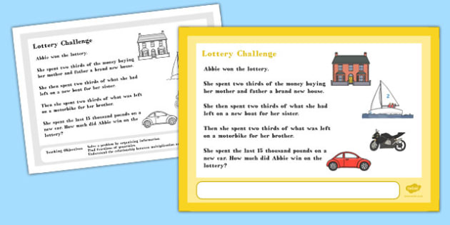 Lottery Maths Challenge A4 Display Posters - challenge, display