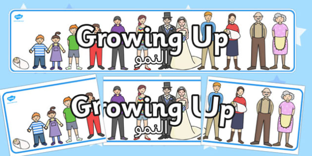 Growing Up Display Banner Arabic Translation - arabic, growing up, display