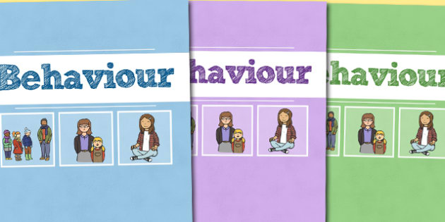 A4 Behaviour Divider Covers-A4, behaviour, divider covers, behaviour management, class management, themed divider covers