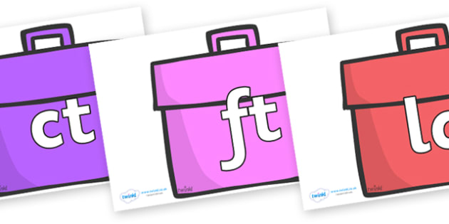 Final Letter Blends on Book Bags - Final Letters, final letter, letter blend, letter blends, consonant, consonants, digraph, trigraph, literacy, alphabet, letters, foundation stage literacy