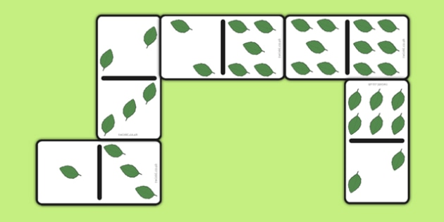 Leaf Dominoes Set - leaf dominoes, set, leaf dominoes, eyfs, early years