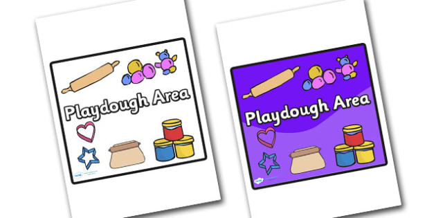 Playdough Area Sign - sign, display sign, area display sign, area sign, area, classroom areas, school areas, classroom area signs, topic signs, topic area signs