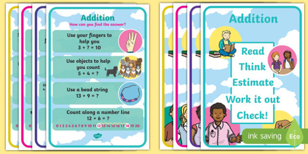 KS1 Number Operations Display Posters