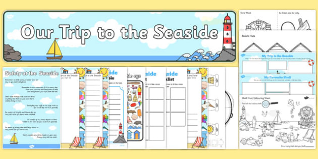 At the Seaside Trip Resource Pack - at the seaside, trip, resource pack