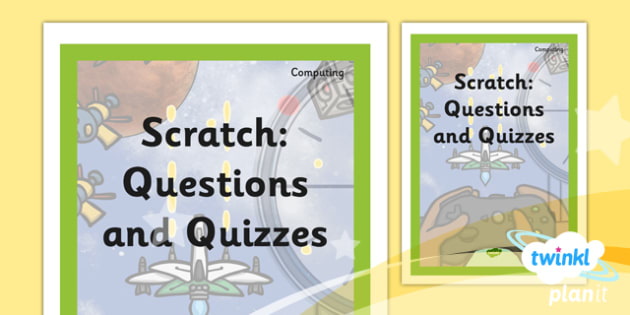 Book Cover Graphism Quiz : Planit computing year scratch questions and quizzes
