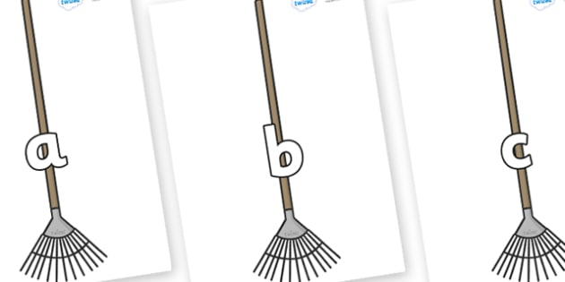 Phase 2 Phonemes on Garden Rakes - Phonemes, phoneme, Phase 2, Phase two, Foundation, Literacy, Letters and Sounds, DfES, display