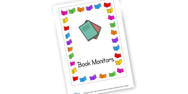 book monitor - Classroom Signs & Label Primary Resources, labels, posters, rules