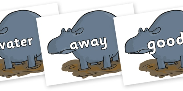 Next 200 Common Words on Humpy Rumpy Hippopotamus to Support Teaching on The Enormous Crocodile - Next 200 Common Words on  - DfES Letters and Sounds, Letters and Sounds, Letters and sounds words, Common words, 200 common words