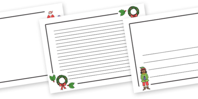 Christmas Themed Page Border (Landscape) - christmas, page border