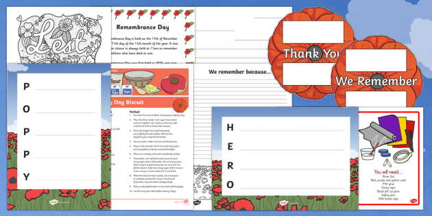 Top 10 KS2 Remembrance Day  Activity Pack-Australia