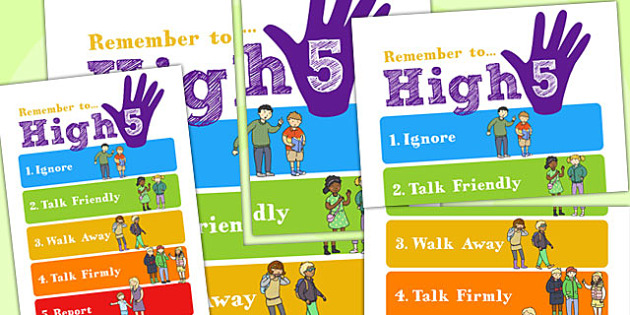 High Five How To Deal with Bullying Large Display Poster - bully