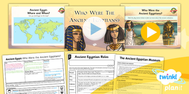 PlanIt - History UKS2 - Ancient Egypt Lesson 1: Who Were the Ancient Egyptians Lesson Pack