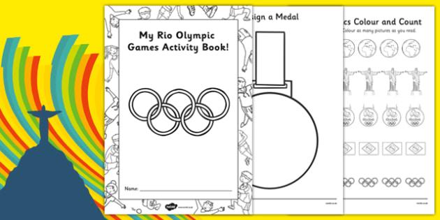 EYFS Rio Olympic Games Nursery FS1 Activity Booklet