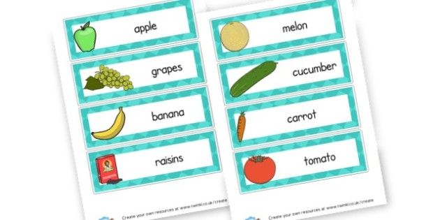Foods Flashcards - Food, Drink and Eating Literacy Primary Resources - Food & Drink