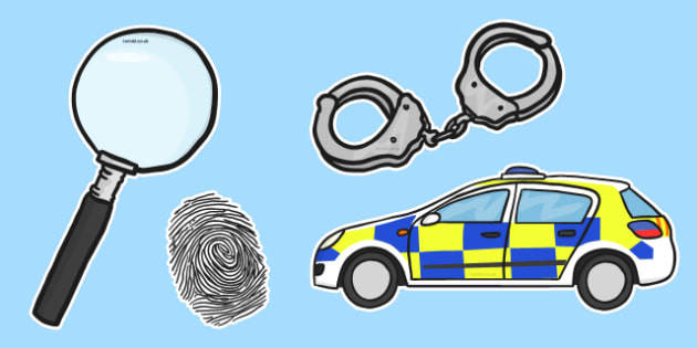 Presentation Police Illustration Cut Outs - presentation police, illustration, cut outs