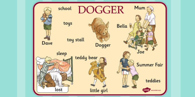 Word Mat to Support Teaching on Dogger - mats, words, visual, writing, literacy, dogger