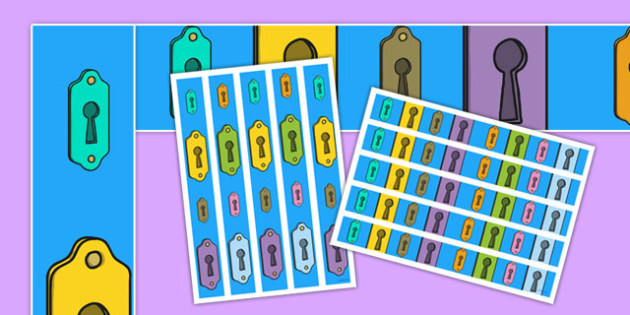 Multicoloured Key Hole A3 Display Borders - mystery, intrigue, discovery, identify, display, uncover, showcase, primary, ks1, ks2, multicoloured,
