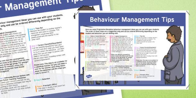 Behaviour Management Tips A2 Display Poster