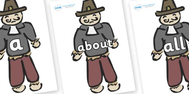 100 High Frequency Words on Guy Fawkes - High frequency words, hfw, DfES Letters and Sounds, Letters and Sounds, display words