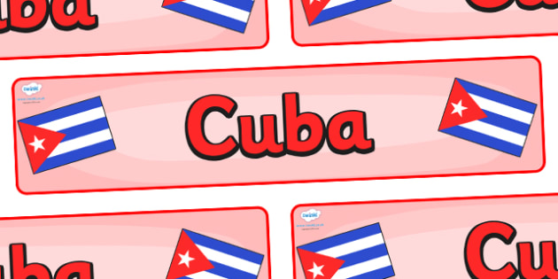 Cuba Display Banner - Cuba, Olympics, Olympic Games, sports, Olympic, London, 2012, display, banner, sign, poster, activity, Olympic torch, flag, countries, medal, Olympic Rings, mascots, flame, compete, events, tennis, athlete, swimming