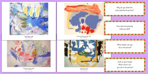 Helen Frankenthaler Photopack and Prompt Questions - helen frankenthaler, photo pack, prompt, questions