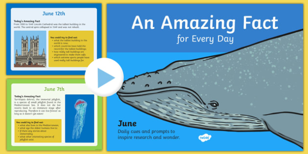 An Amazing Fact a Day June PowerPoint - fact, day, amazing, june