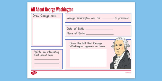 George Washington Graphic Organizer - usa, presidents day, george washington, graphic organizer