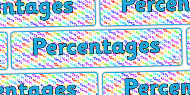 Percentages Display Banner - percentages, percentages banner, percentages display, fractions decimals and percentages, ks2 maths display, ks2 numeracy