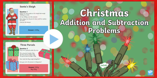 LKS2 Addition and Subtraction Christmas PowerPoint