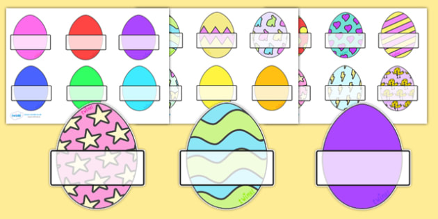 Editable Self Registration Labels (Easter Eggs) - Self registration, register, Easter, editable, labels, registration, child name label, printable labels, bible, egg, Jesus, cross, Easter Sunday, bunny, chocolate, hot cross buns