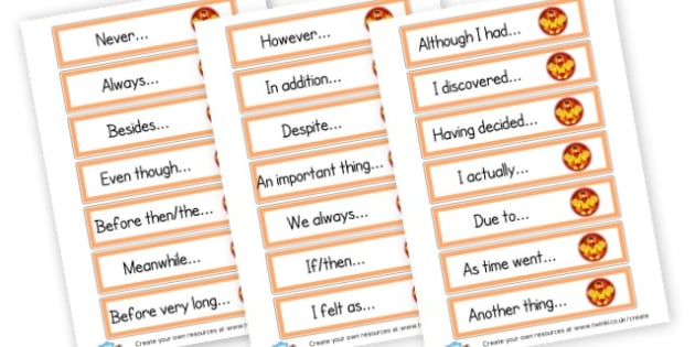 Super Opener Word Cards - Display Sentence Starters Primary Resources, Display, Letters