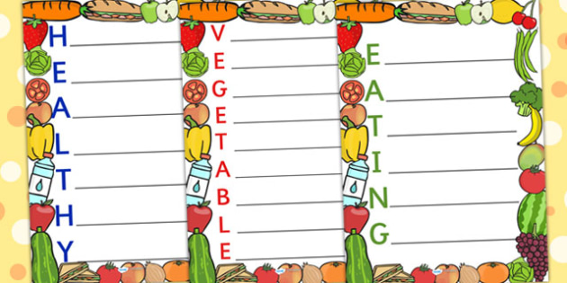 Healthy Acrostic Poems - health, poem, poetry, acrostic poem