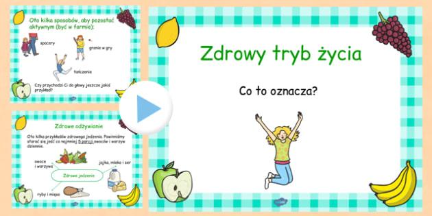 Prezentacja PowerPoint Zdrowy tryb życia po polsku - odżywianie