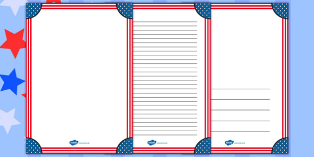 Stars and Stripes Page Borders - stars, stripes, page borders