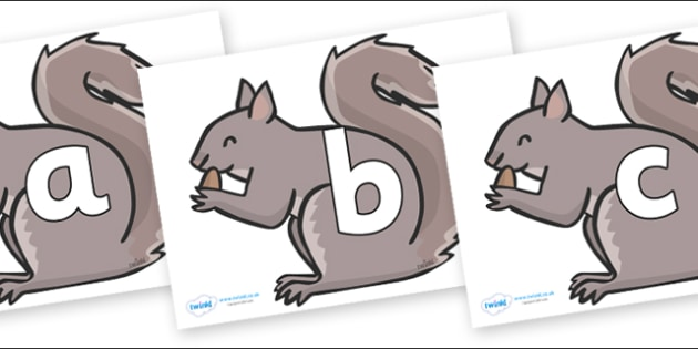 Phoneme Set on Grey Squirrels - Phoneme set, phonemes, phoneme, Letters and Sounds, DfES, display, Phase 1, Phase 2, Phase 3, Phase 5, Foundation, Literacy