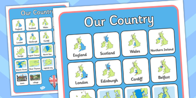 Our Country UK Word Grid - our country, uk, word, grid, country