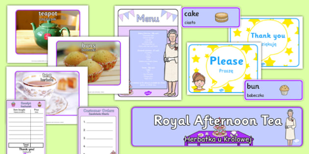 Royal Afternoon Tea Role Play Pack Polish Translation - polish, royal, afternoon tea, role play, pack